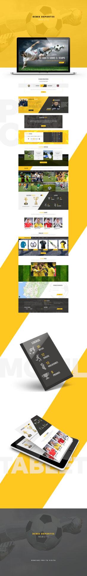 Diseño página web para deportes ecuador