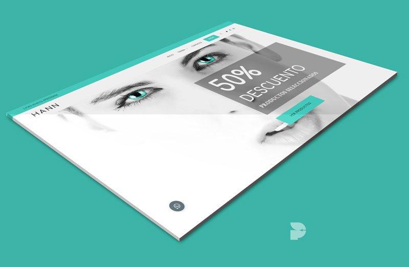 Diseño tienda online de cosméticos Hann Store Ecuador