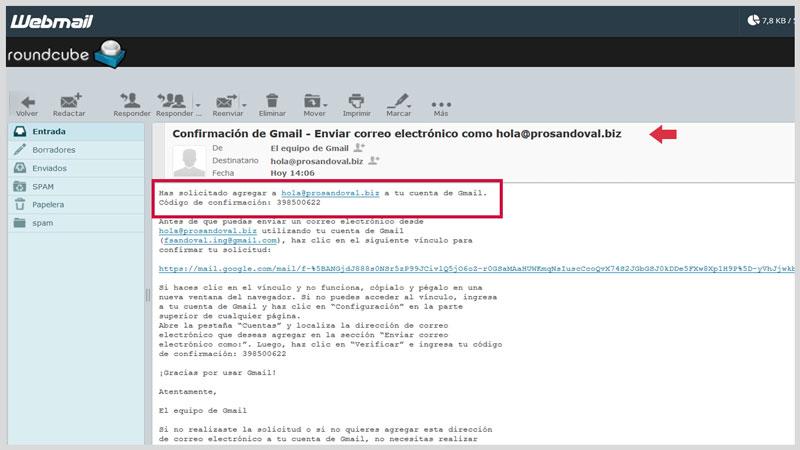 Configurer la messagerie Web dans Gmail 10