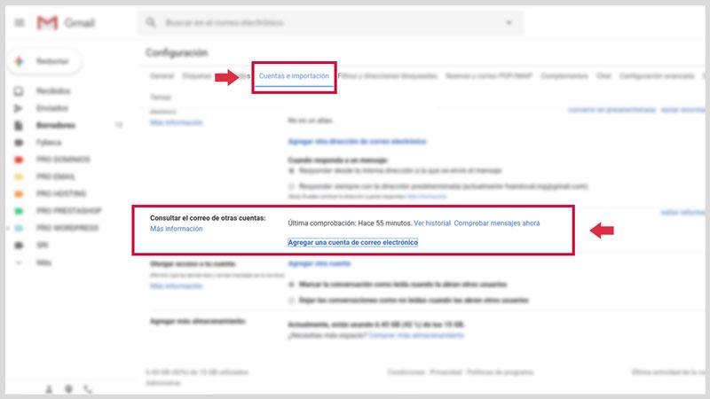 Configurer la messagerie Web dans Gmail 2