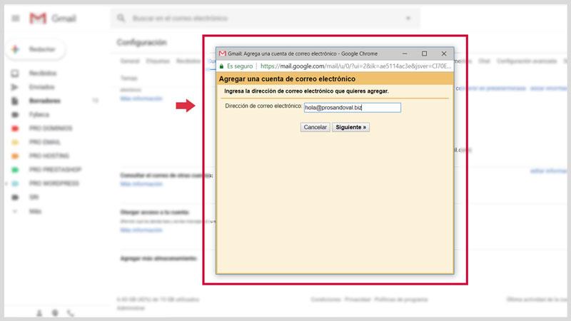 Configurer la messagerie Web dans Gmail 3