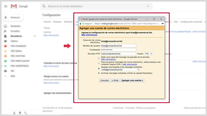 Configurer la messagerie Web dans Gmail 4