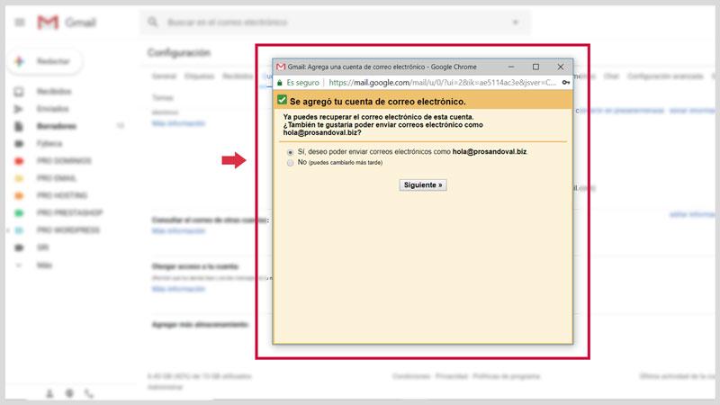 Configurer la messagerie Web dans Gmail 6