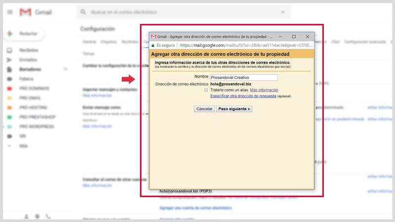 Configurer la messagerie Web dans Gmail 7