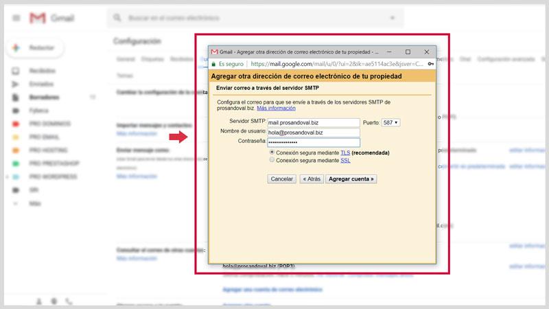 Configurer la messagerie Web dans Gmail 8