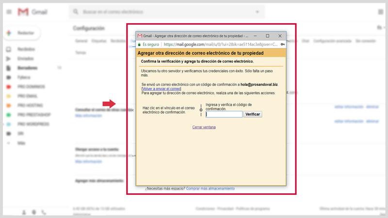 Configurer la messagerie Web dans Gmail 9