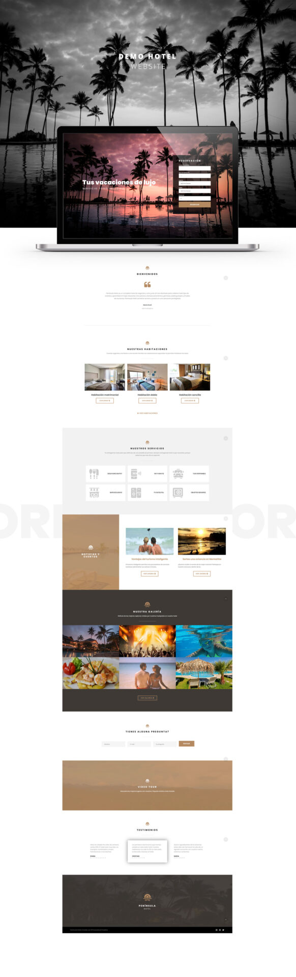 Diseño pagina web hotel prosandoval