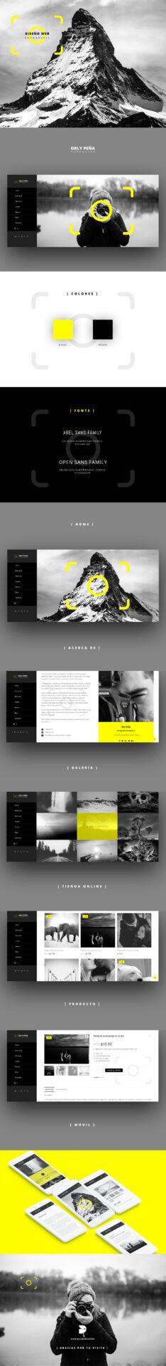diseño páginas web para fotógrafos portfolio ecuador