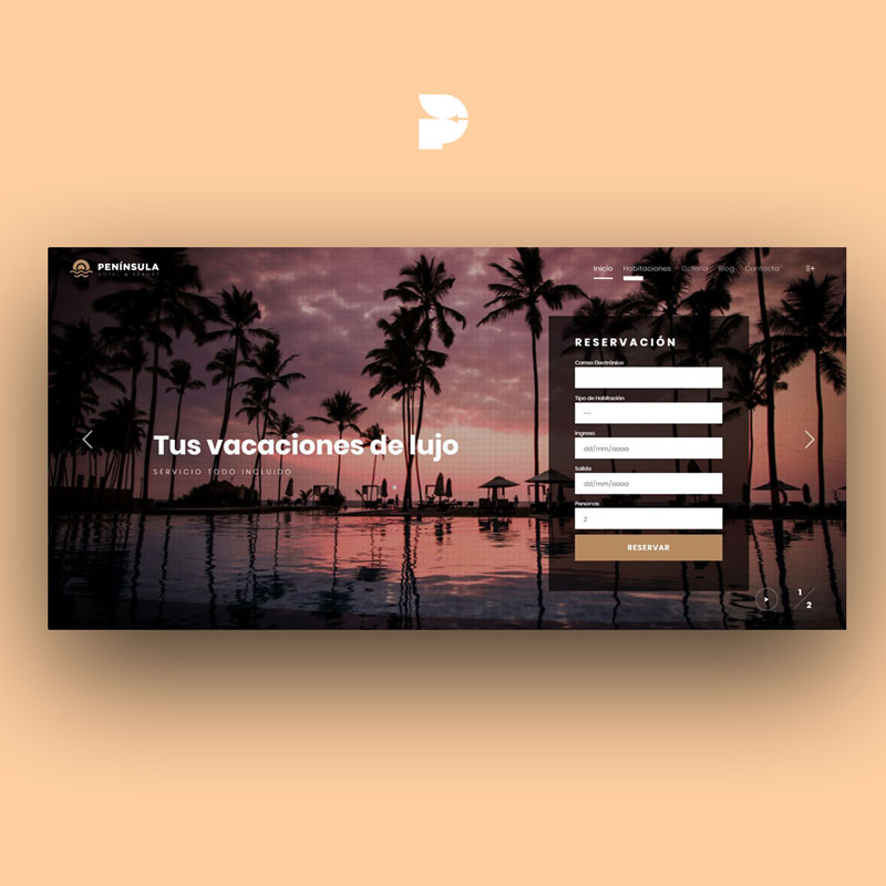 Diseño página web para Hotel Península