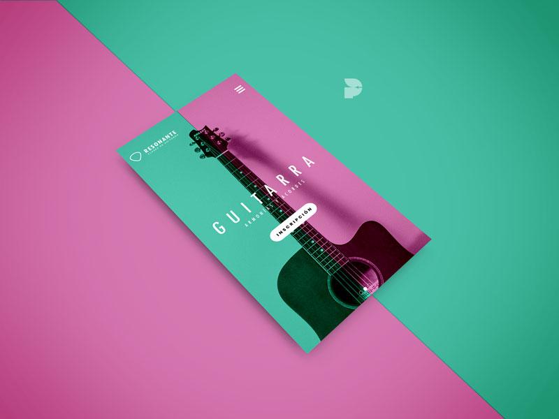 Diseno pagina web resonante movil musica guitarra caso estudio