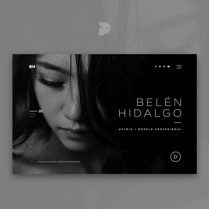 Diseño página web para actrices Belén Hidalgo