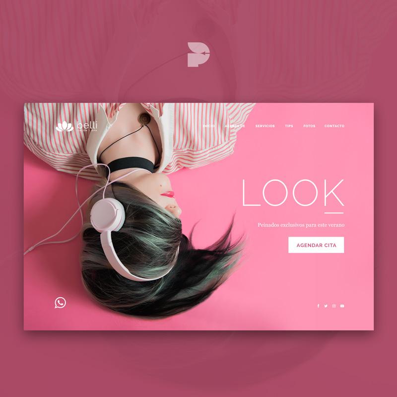 Diseño página web para salón de belleza Belli