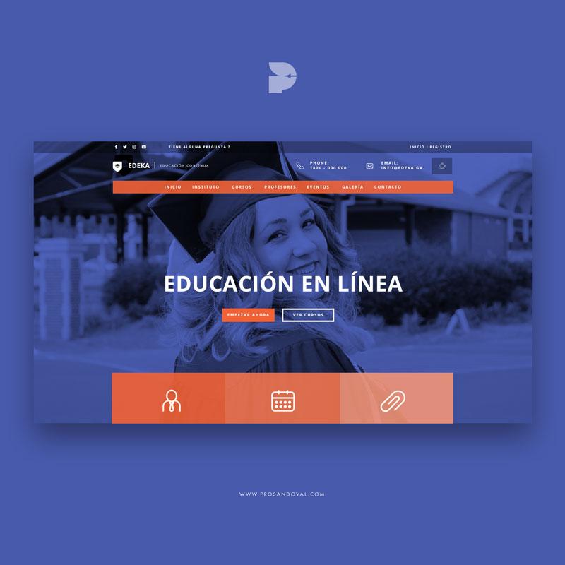 Página web para centro de formación Edeka