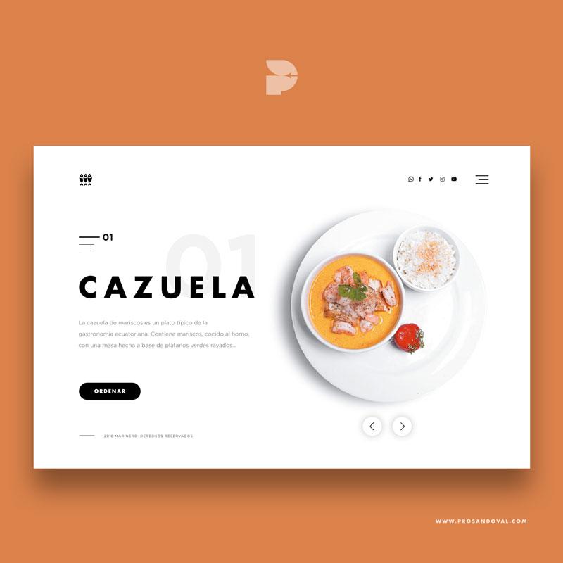 Diseño página web para catering Marinero