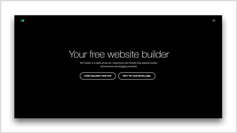 pagina web gratis constructor imcreator