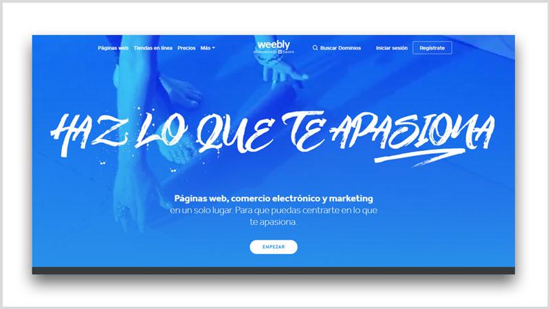 pagina web gratis constructor weebly ecuador