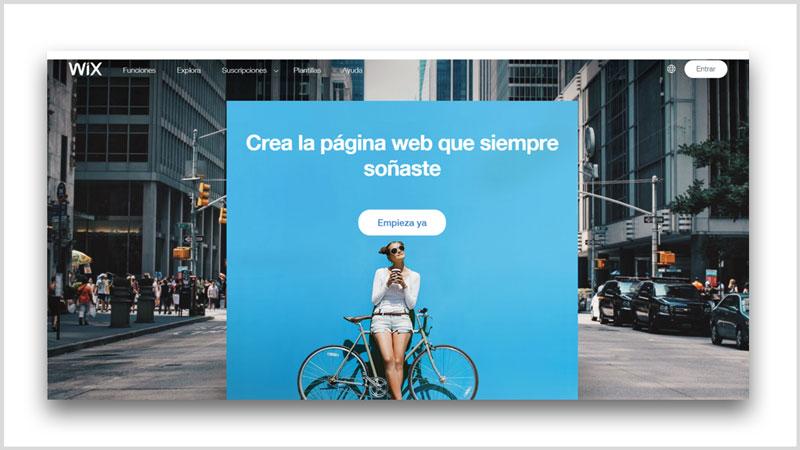pagina web gratis constructor wix