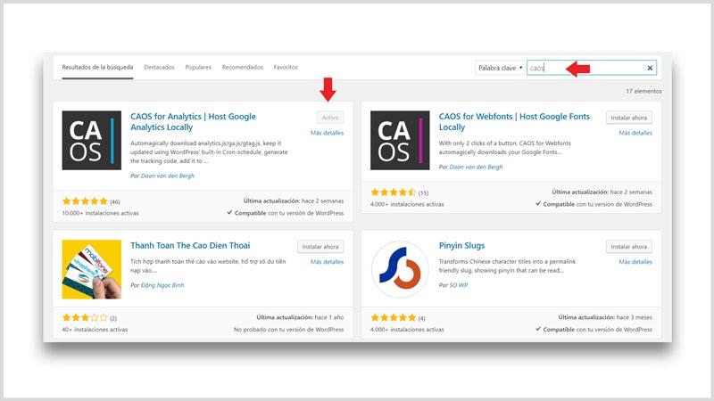 Instalar google analytics en wordpress con plugin