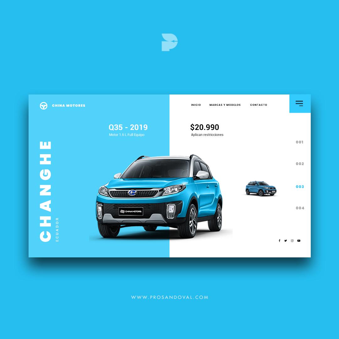 Diseño página web para concesionario de autos