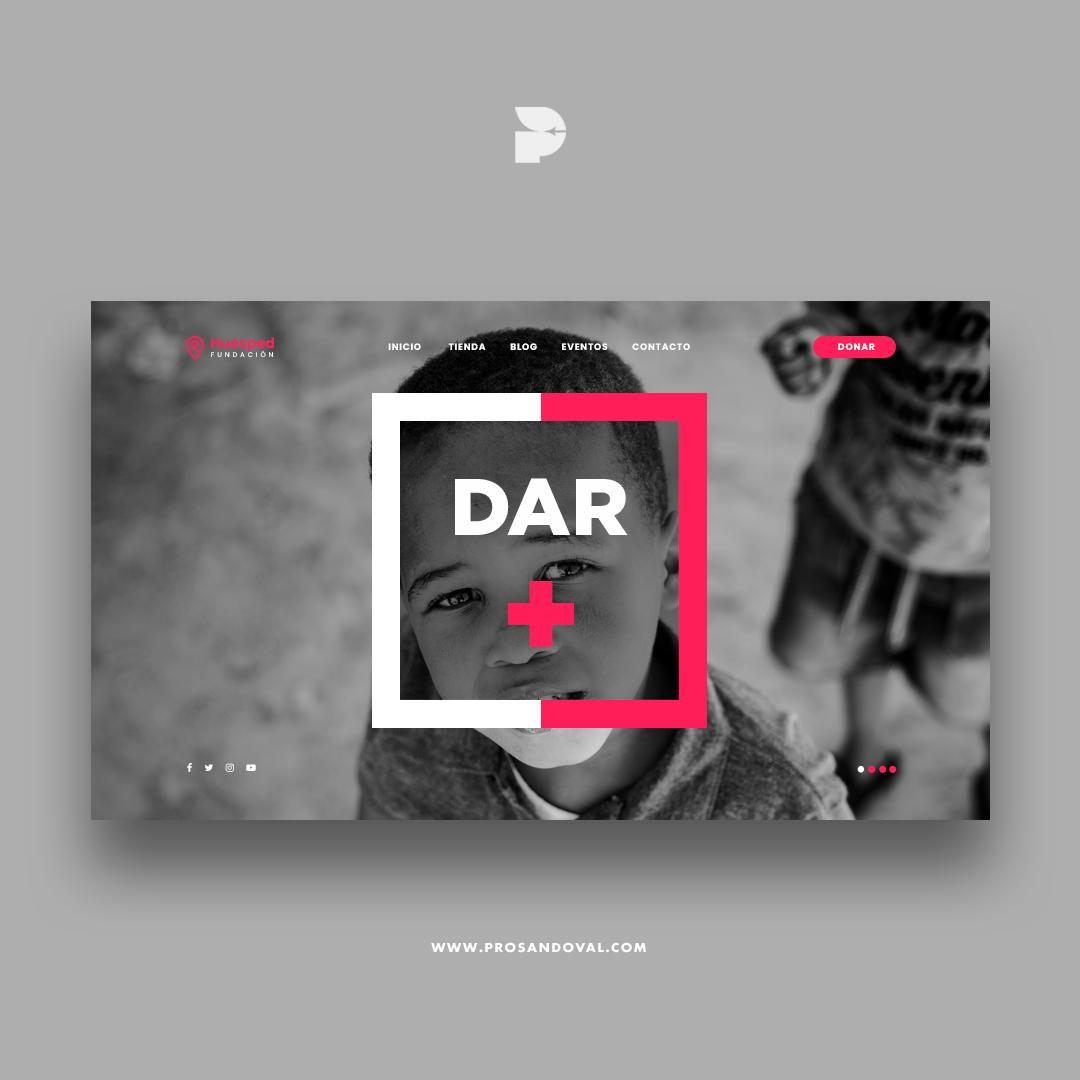 Diseño página web para donaciones charity