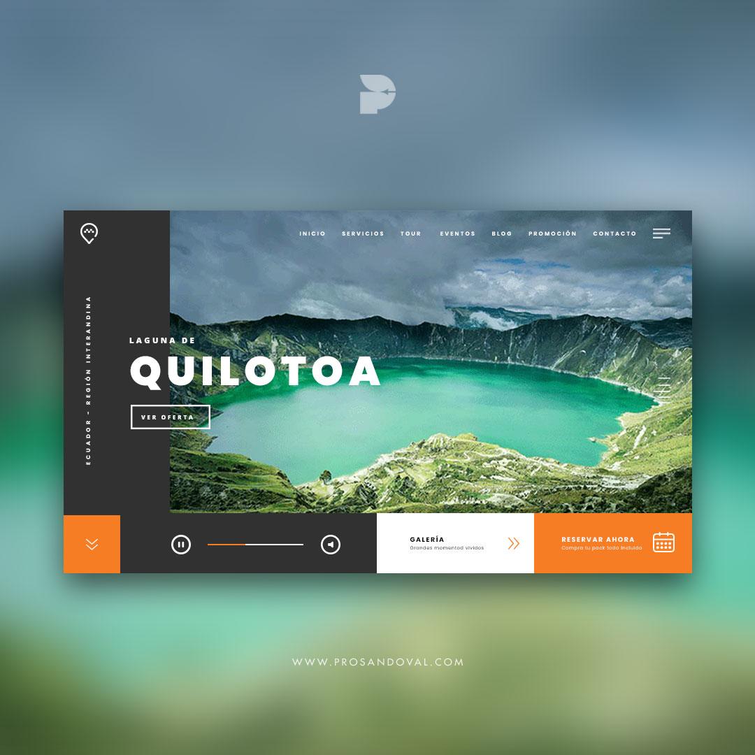 Diseño página web para operadora de turismo