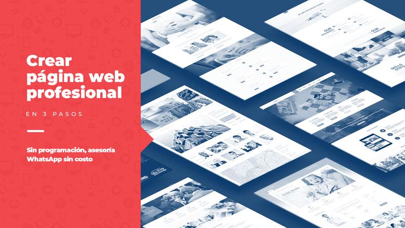 Guía Crear página web profesional paso a paso gratis