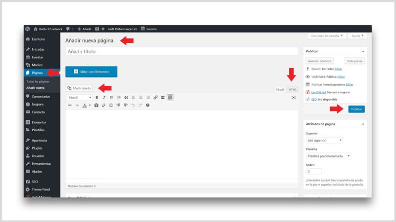 personalizar tema de WordPress paginas
