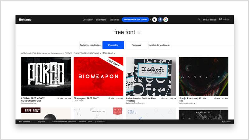 Los 10 mejores sitios para descargar fuentes y tipografías free behance