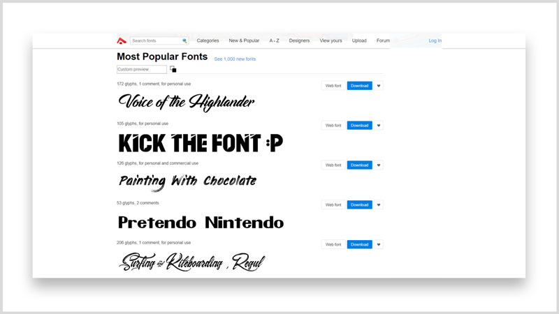 Los 10 mejores sitios para descargar fuentes y tipografías gratis abstractfonts