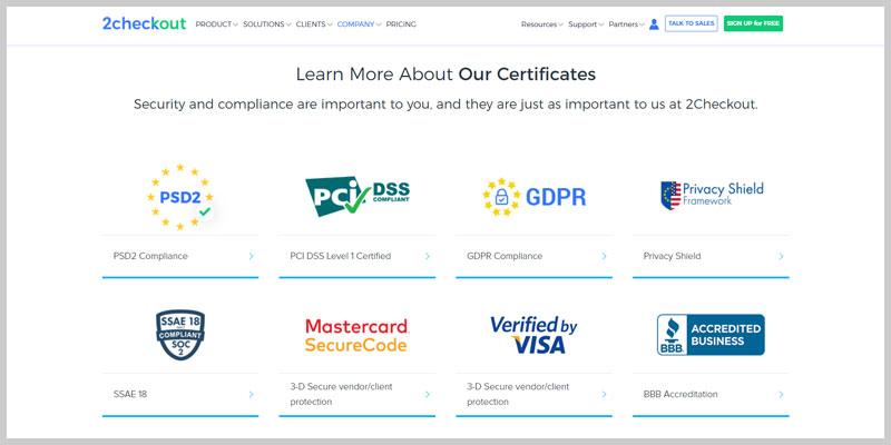 2Checkout experiencia pasarela de pago ecommerce seguridad certificaciones