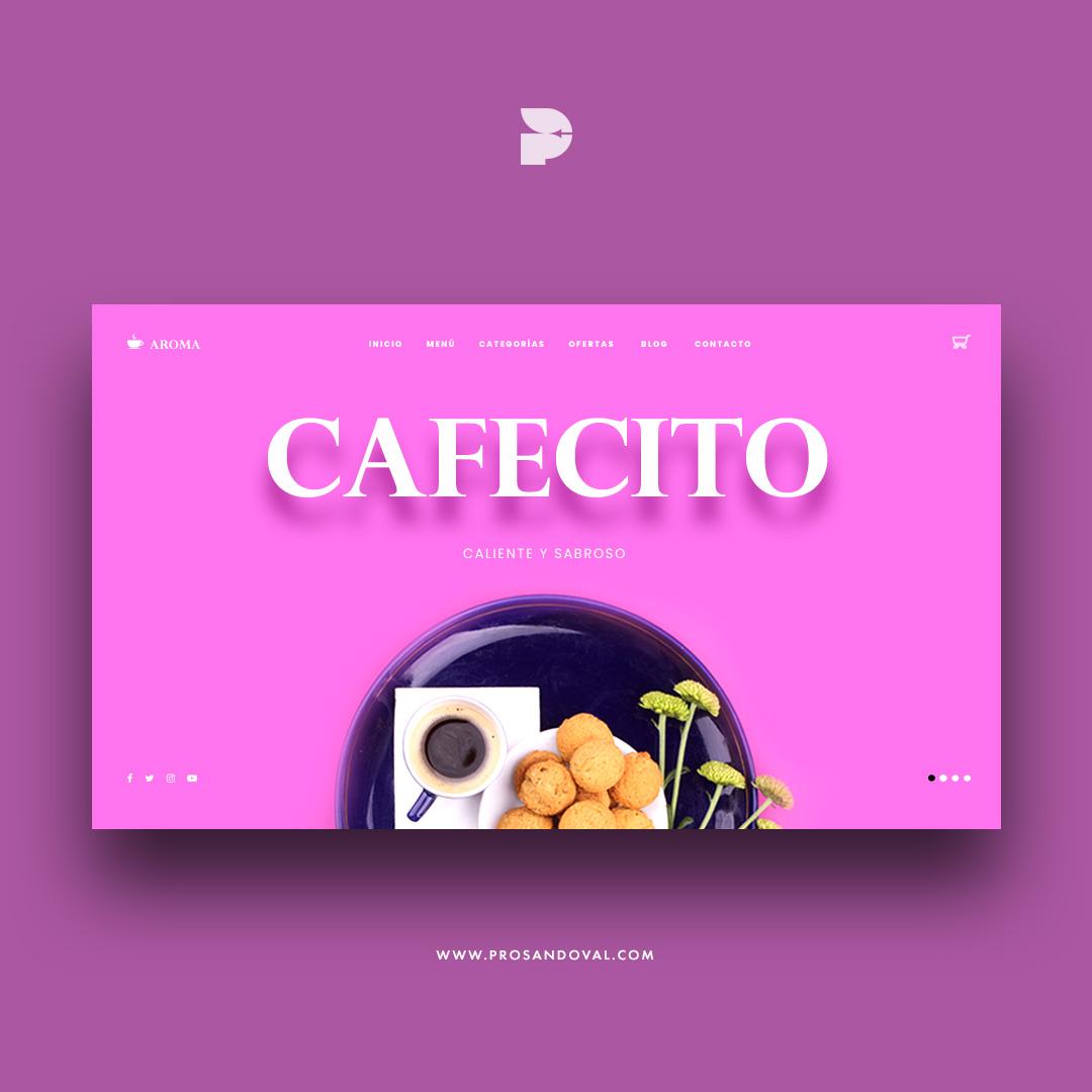 Diseño página web para cafetería aromas ecuador