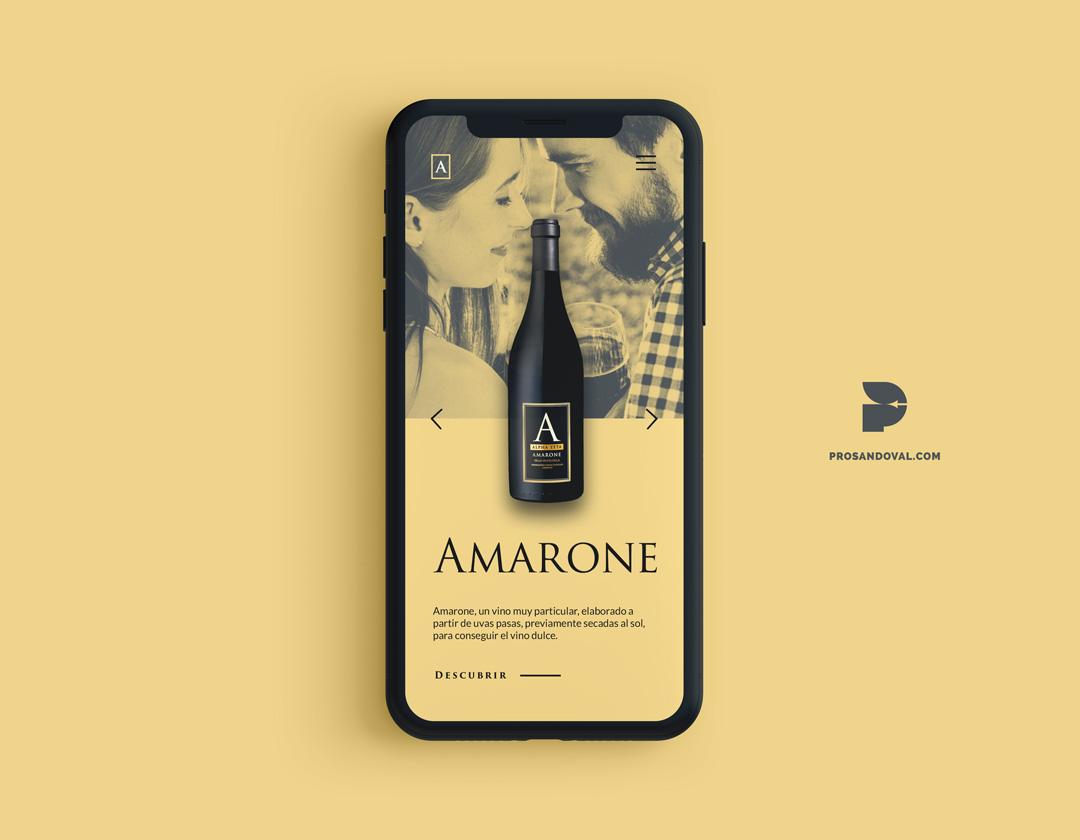 Diseño página web para vino responsive ecuador