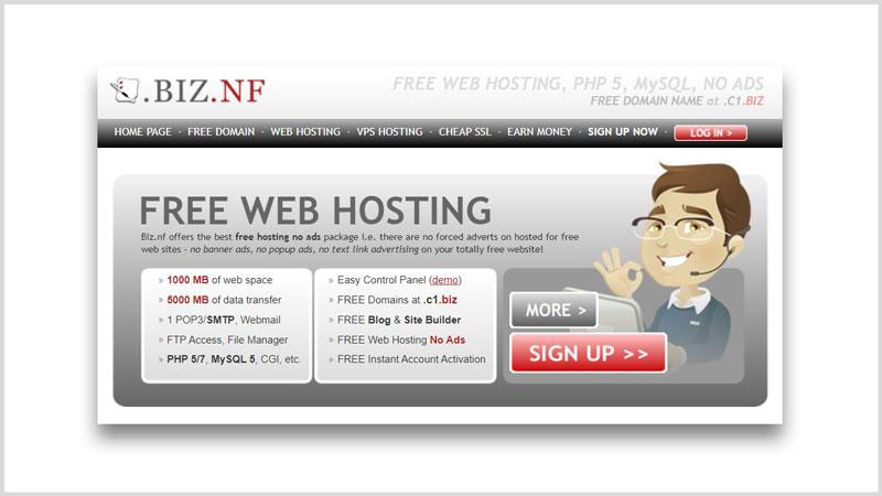 BIZ NF registrar dominio gratis para paginas web Ecuador