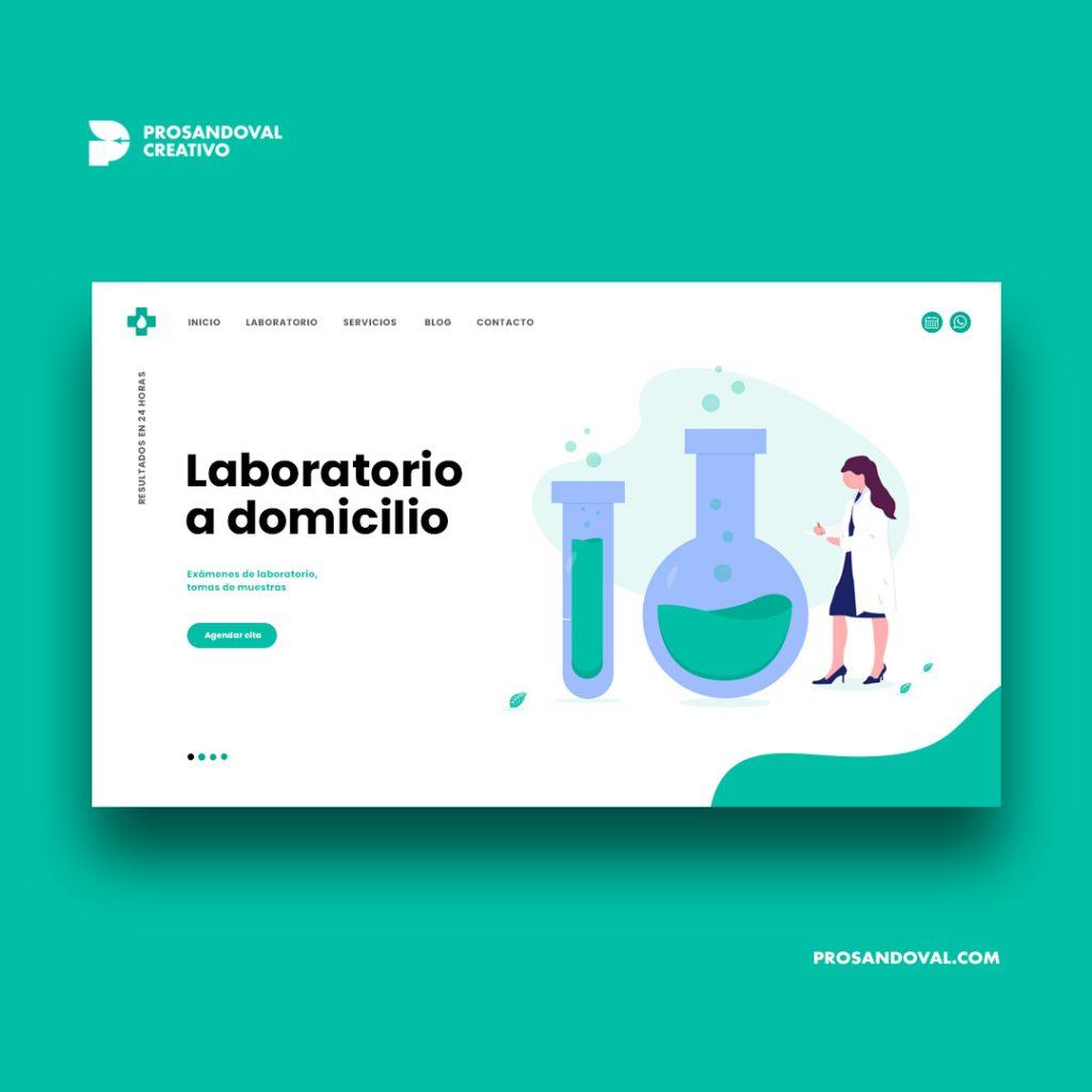Diseño página web para laboratorio clínico