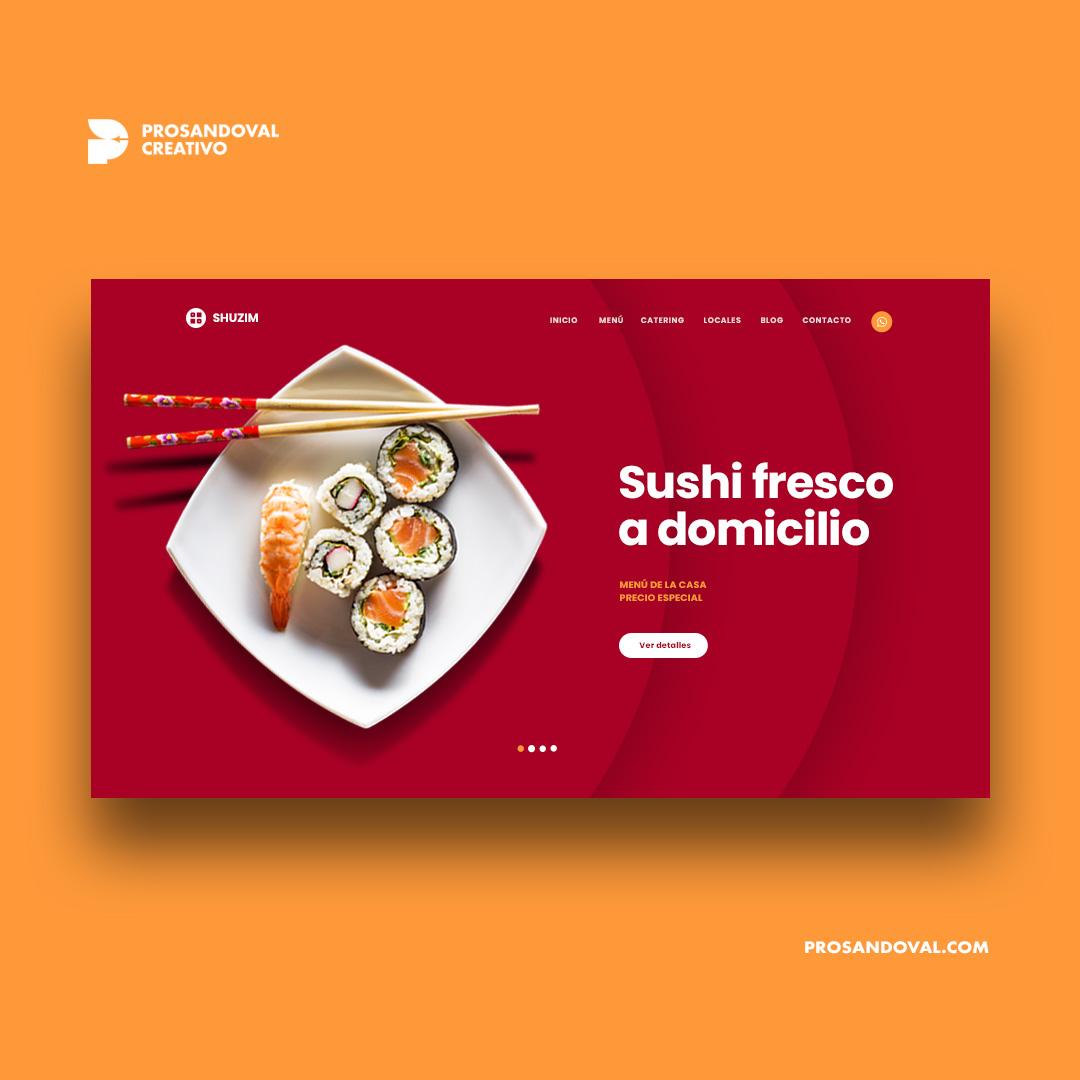 Diseño página web para sushi bar
