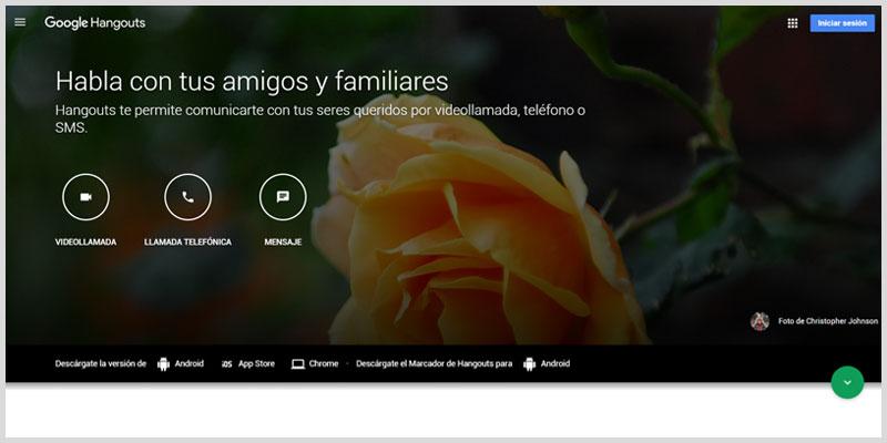 Google Hangouts Plataformas para videoconferencia
