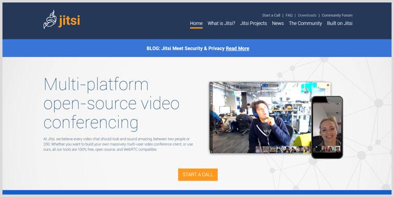 Jitsi Plataformas para videoconferencia gratis