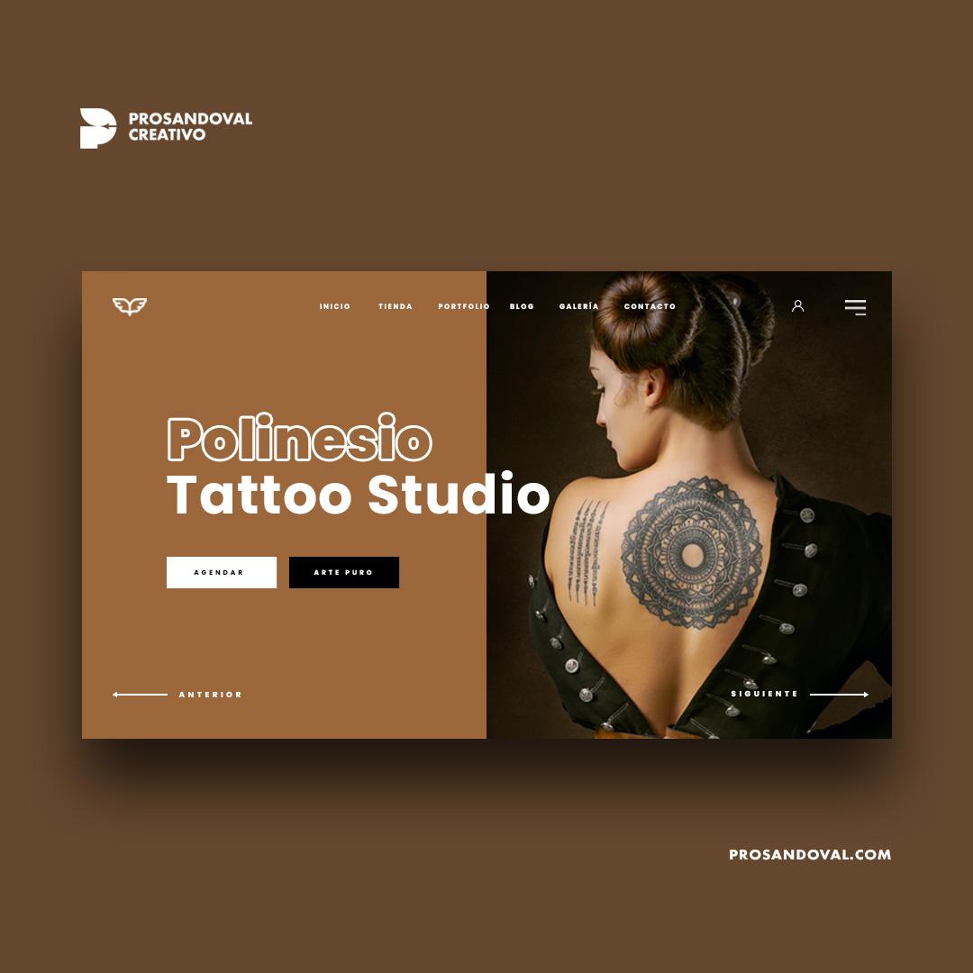 Diseño página web para tattoo estudio tatuadores ecuador latinoamérica
