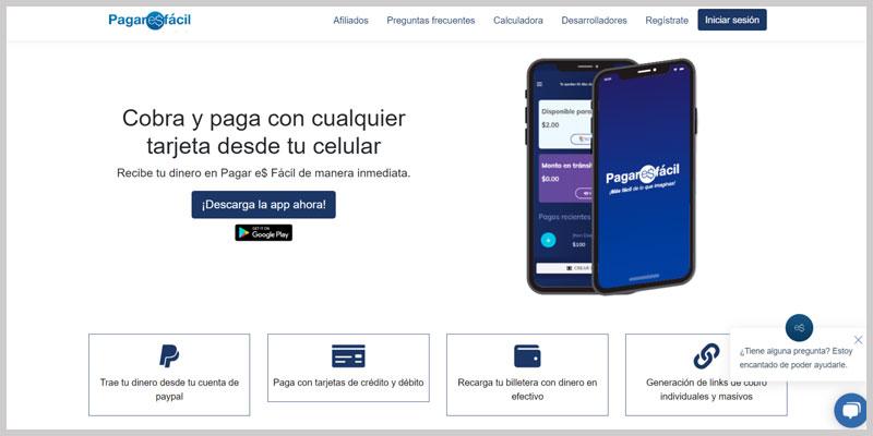 Pagar Es Facil pasarela de pago para negocios online ecuador