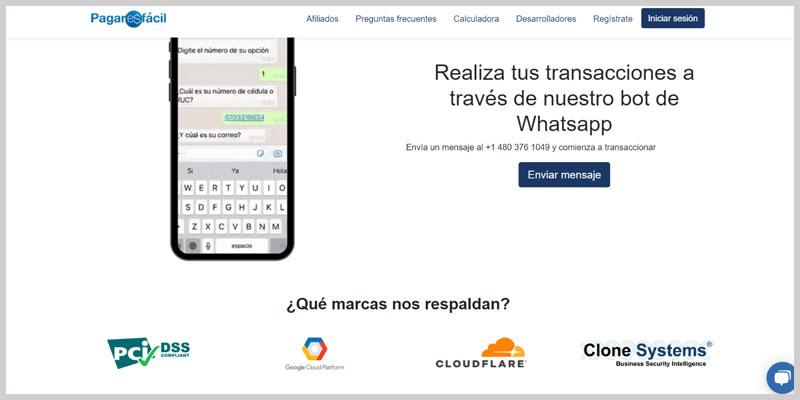 Pagar Es Facil pasarela de pago para negocios online seguridad transacciones