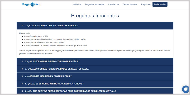 Pagar Es Facil pasarela de pago para negocios online tarifas comisiones ecuador