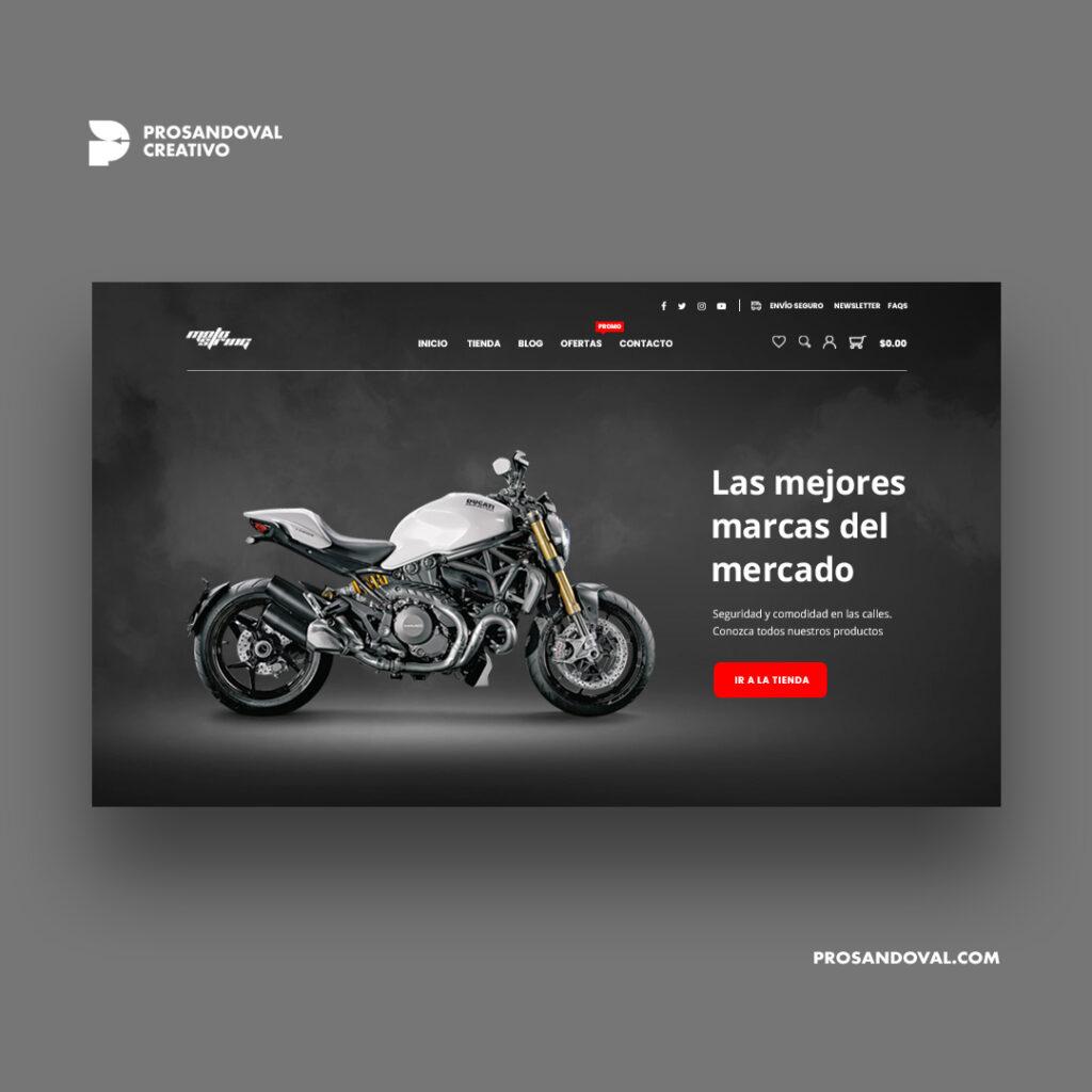 Diseño tienda online de repuestos para motos