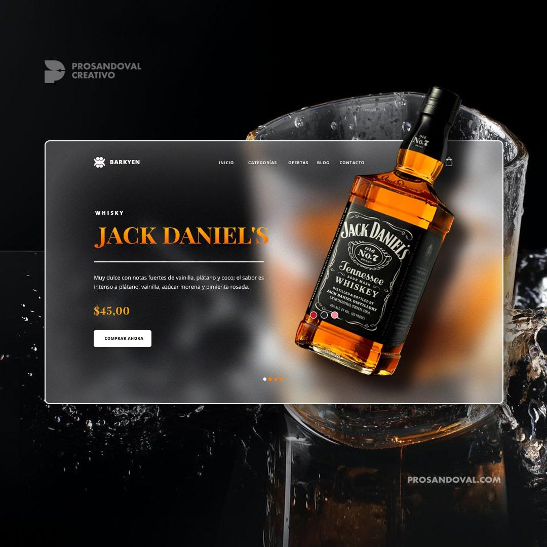 Diseño tienda online de whisky página web ecuador