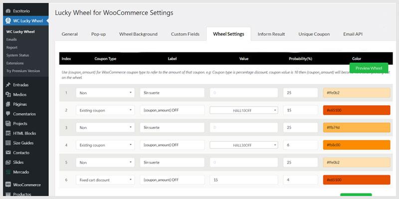 instalar-una-rueda-de-la-fortuna-en-WooCommerce-Wheel settings