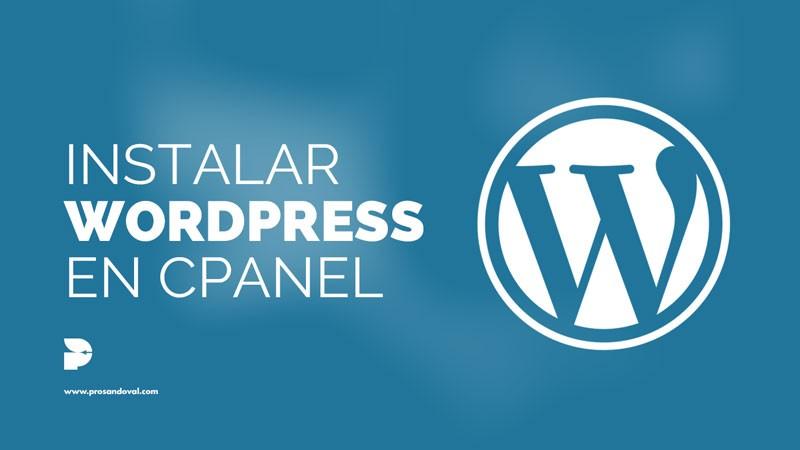 Como instalar WordPress en cPanel guia