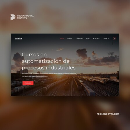 Diseño Página web para cursos industriales
