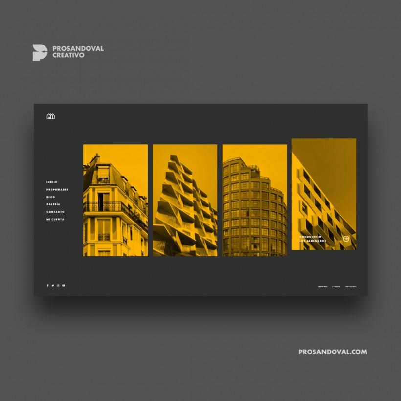 Diseño página web CRM inmobiliario