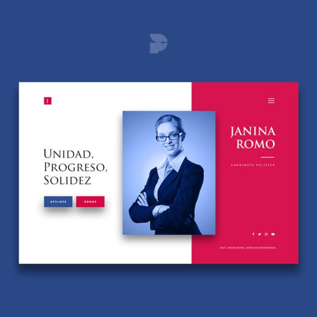 Diseño Página web de política Janina Romo