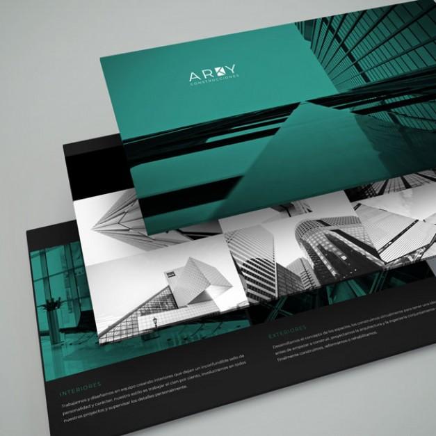 Diseño página web para constructora Arky