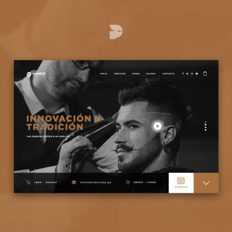 Diseño página web para peluquería Barber